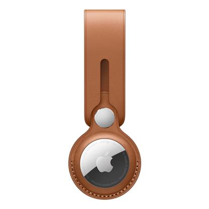 buy APPLE AIRTAG LEATHER LOOP - SADDLE BROWN MX4A2ZM/A :AirTags