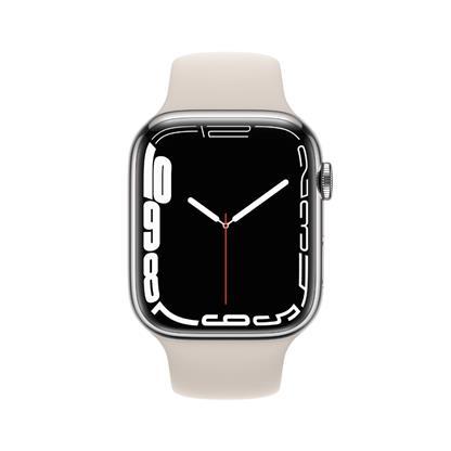 buy APPLE WATCH S7 45MM SIL SS STAR SP CEL MKJV3HN/A :Apple Watch