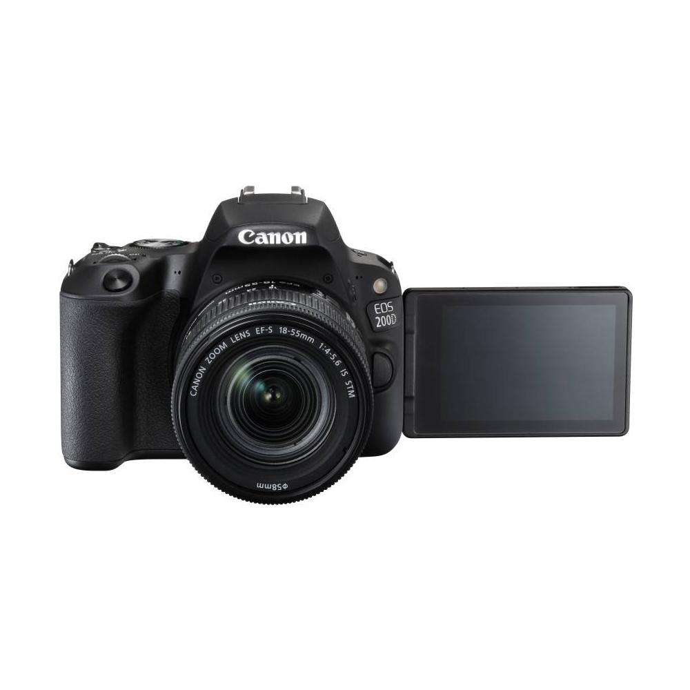 Canon EOS 200D DSLR Camera (18-55 + 55-250mm, Black) Price in India