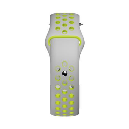 buy COLORFITPRO3 SILICONE SPORT 22MM STRAP SILVERPOP :Smart Watch Straps