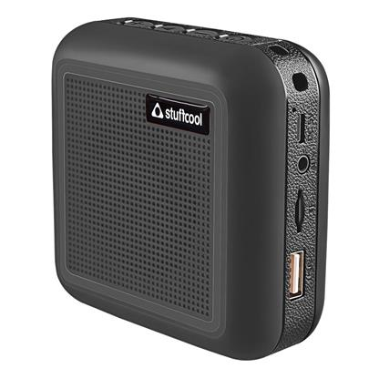 buy Stuffcool Theo Portable TWS (True Wireless Stereo) Bluetooth Speaker with Mic - Black :Stuffcool