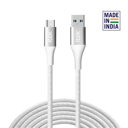 buy ITEK MICRO USB CABLE CBL021 WHITE :ITEK