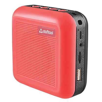 buy Stuffcool Theo Portable TWS (True Wireless Stereo) Bluetooth Speaker with Mic - Red :Stuffcool