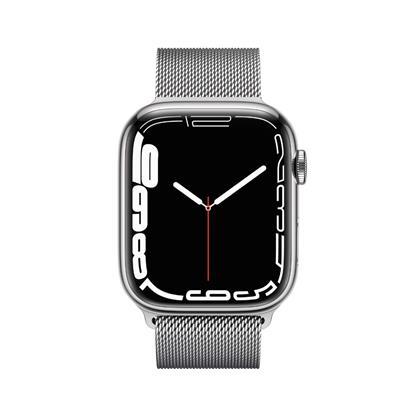 buy APPLE WATCH S7 45MM SIL SS SIL ML CEL MKJW3HN/A :Apple Watch