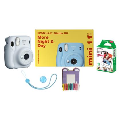 buy FUJIFILM INSTAX CAMERA MINI 11 STARTER KIT WHITE :Fujifilm