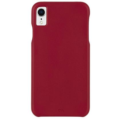 buy Case-Mate Barely There Leather Back Case Cover for Apple iPhone XR - Cardinal :CASEMATE
