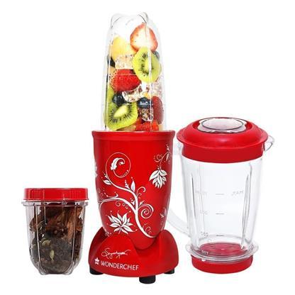 buy WONDERCHEF MIXER NUTRI BLEND RED WITH JAR :Wonderchef