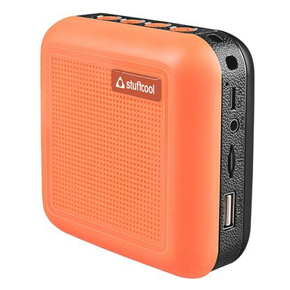 buy Stuffcool Theo Portable TWS (True Wireless Stereo) Bluetooth Speaker with Mic - Orange :Stuffcool