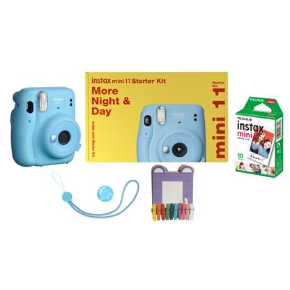 buy FUJIFILM INSTAX CAMERA MINI 11 STARTER KIT BLUE :Fujifilm