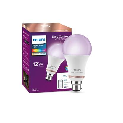 buy PHILIPS SMART WIFI LED BULB B22 WIZ CONNECTED 12W :Multicolor