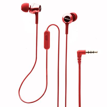 buy SONY EARPHONE WITH MIC MDREX155APRQIN RED :Sony