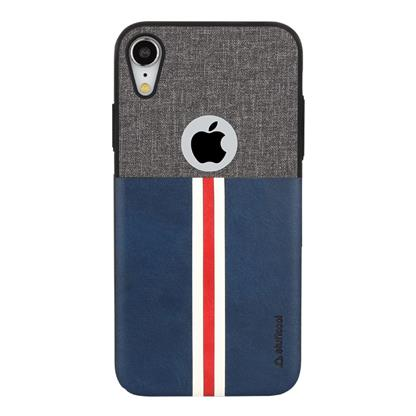 buy Stuffcool Eto Sport Stylish & Sporty PU Leather Back Case Cover for Apple iPhone XR - Grey / Blue :Stuffcool