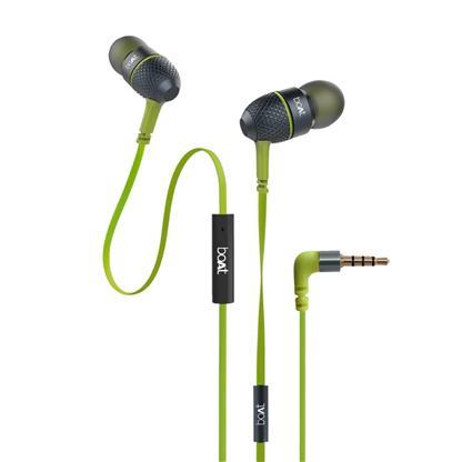 buy BOAT EARPHONE BASS HEADS 228 LIME :boAt Bassheads 228