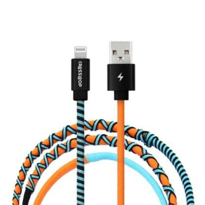 buy Crossloop Lightning Fast Charging Cable - Orange & Blue :Crossloop