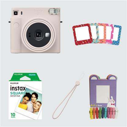 buy FUJIFILM INSTAX CAMERA SQ 1 STARTER KIT WHITE :Fujifilm