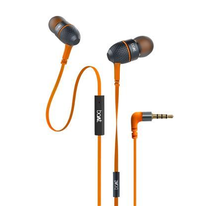 buy BOAT EARPHONE BASS HEADS 228 MOLTEN ORANGE :boAt Bassheads 228