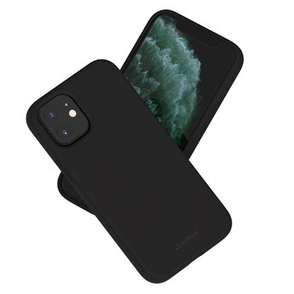 buy Stuffcool Silo Soft & Smooth Slimmest Back Case Cover for iPhone 12 Mini - Black :Stuffcool